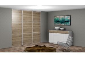 Šatník trojdverový drevodekor-3